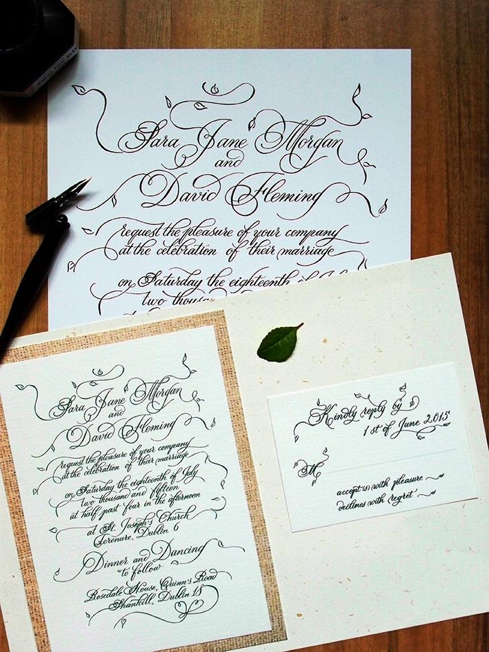 Hand-lettered invitation design