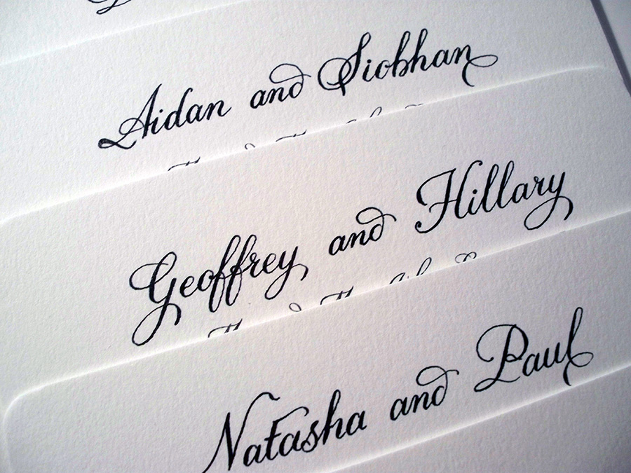 Names on Invitations