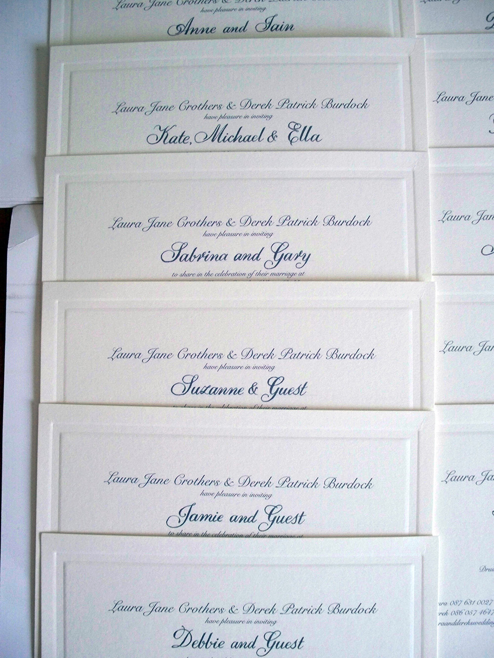Elegance calligraphy on Invitations